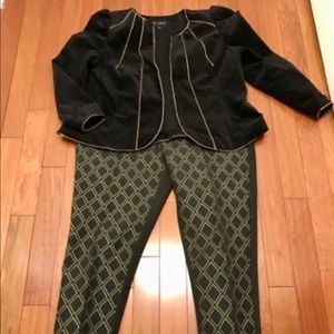 Eloquii brocade pants and velvet jacket worn once